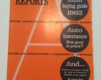 Vintage Consumer Reports Auto Edition 1962