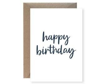 Happy Birthday Greeting Card (plain)