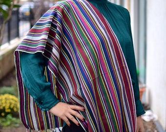 Handmade, handwoven ikat scarf