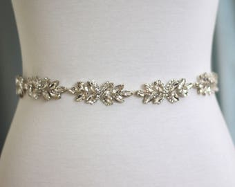 Crystal Bridal Belt - The Perfect Dainty  Bridal Sash and Wedding Belt