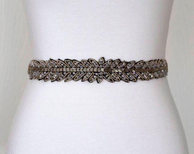 Black Formal Dress Belt, Bridal Belt, Bridal Sash, Wedding Belt, Wedding Sash Rhinestone and Pearl Sash