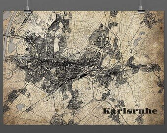 Karlsruhe DIN A4 / DIN A3 - print - turquoise