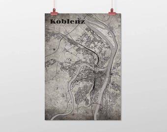 Koblenz - A4 / A3 - print - OldSchool