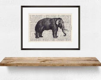 Pressure Elephant No. 2-On Antique page