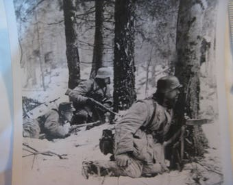 Original!! WW11 German Army Action Photo-w/German Discription/Copyright Stamp!