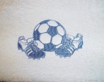 30 X 50 FOOTBALL THEME EMBROIDERED GUEST TOWEL