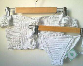 Crochet White Bikini.