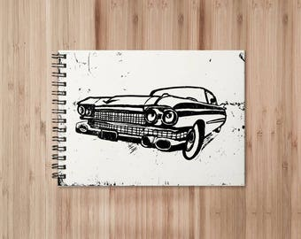 Cadillac Notebook/Sketchbook Wire Bound - Blank pages