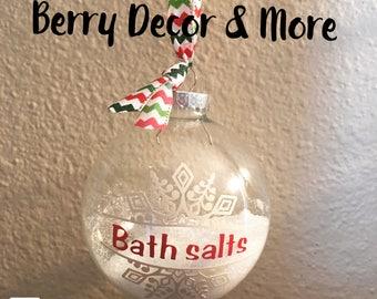 Bath Salt Ornaments