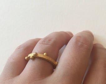 BuryX - Gold 3d Printed Ring