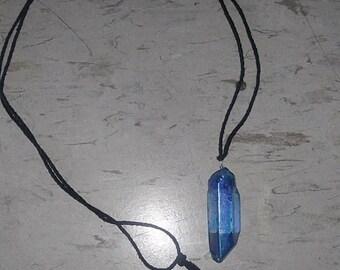 Blue Titanium Necklace