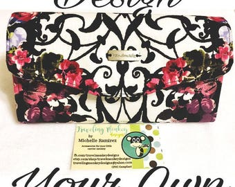 Custom-Design Your Own-Made to Order-Necessary Clutch Wallet-Clutch Purse-Wrist Clutch-NCW-Wrap Scrap Clutch-Wrap Scrap Purse