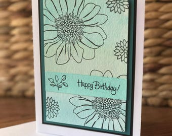 Happy Birthday Card - blue