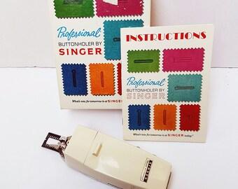 1970 Singer Professional Buttonholer, Slant Needle, with Original Box