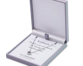 Add Personalised Card Insert for your Silverbrooks Necklace or Earrings