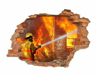 054 wall hole in the wall fire-