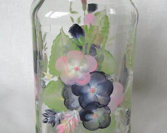 Glas Container Erröten Rosa Dekor Küche Kanister Vorratsgläser Zubehör Für  Die Küche, Die Florale