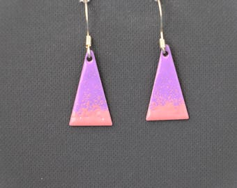 purple triangle teardrop