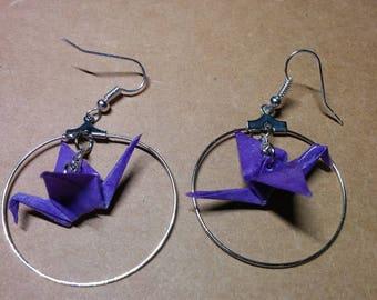"""""""Birds in flight"""" earrings in hoop (G_014)"""