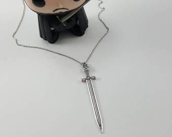 Jon Snow Sword Necklace, Longclaw Necklace, Game of Thrones Jewelry, Game of Thrones Inspired
