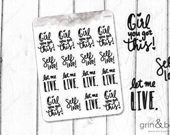 Let me Live Doodle Word Stickers (DW002)