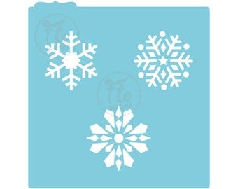 "Snowflakes Cookie Stencil 14.0 cm x 14.0 cm [5.5"" x 5.5""] *Stencil for Cookies and Cupcakes*"