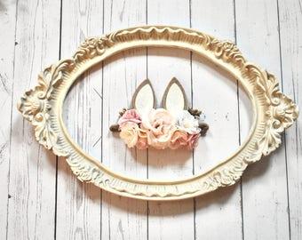 Easter Bunny headband, bunny ears bow, spring headband, Easter headband, bunny bow