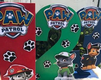 Paw patrol numbers