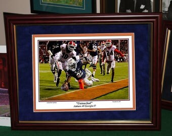 UNTOUCHED Kerryon Johnson FRAMED PRINT War Eagle, Tigers