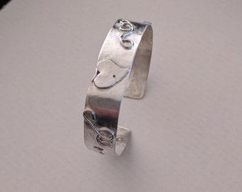 Sterling Silver Embelished Cuff Bracelet