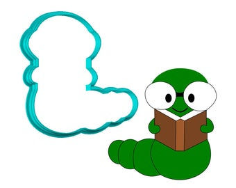 Bookworm Cookie Cutter