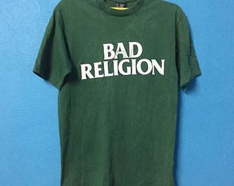 Rare!!vintage 90s bad religion band shirt made in usa