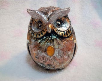 Smart Owl. Hand Painted