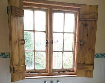 Bathroom And Exterior Window Shutters Wooden Doors Treatment Barn Door Style
