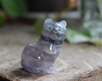 Purple Fluorite Cat 2