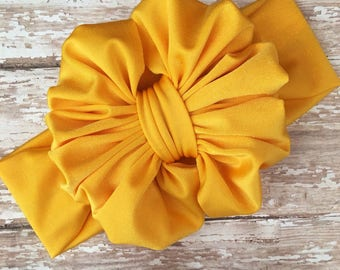 Sunflower Messy Bow