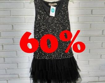 DRESS VINTAGE / / vintage dress / / tulle / / vintage clothing / / vintage clothing / / gift for woman