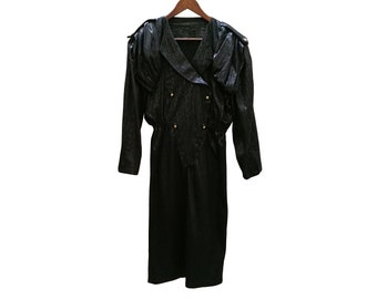 Vintage dress//vintage clothing/1970s/1980s/gift for woman/black/70s/medium/dress for women/vintage Dress