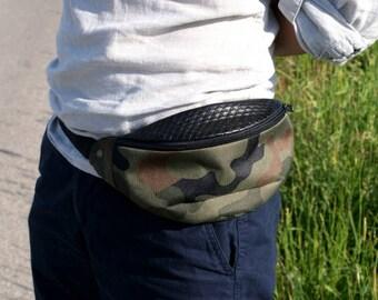 Belt bag military / hip bag / fanny pack / vegan / eko / military / synthetic
