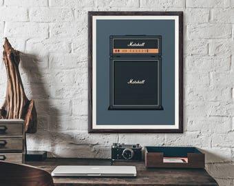 Marshall Guitar Amp Poster Art Print