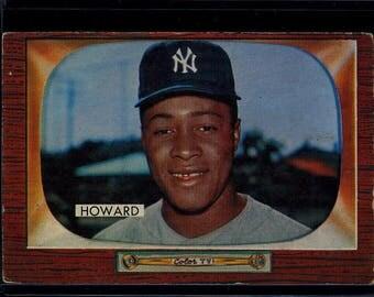 Vintage 1955 Bowman ELSTON HOWARD Rookie RC Yankees #68 VGEx