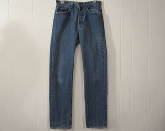 Vintage Levis, made in USA, 1980s Levis, Levis 501 pants, vintage blue Jeans, vintage denim, 30.5 X 33