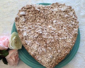 Famous Crumbcake, Valentine's Day Coffecake, Sweet Bread, Breakfast Cake, Cinnamon Cake, Hostess Gift, Gift Package, Get Well Soon Gift