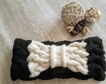 THE STONEHAM * headband - Ear warmer - Headband - Knit turban - cable knit earwarmer