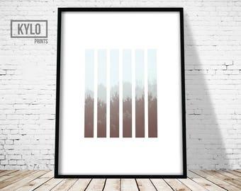 Forest Print, Minimalist Design Art Print, Modern Photography Print, Foggy Forest Art, Nature Abstract Art, Nature Print, Cloud Forest Print