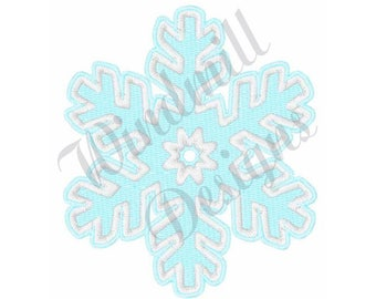 Single Snowflake - Machine Embroidery Design