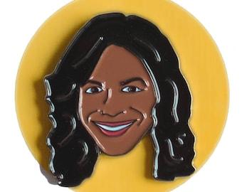 Audra McDonald enamel lapel pin
