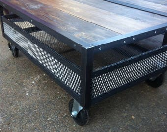 Skateboard wood and steel coffee table