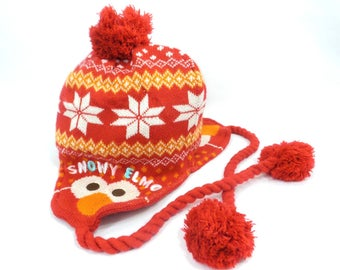 Sesame Street Winter Hats Sesame Street Snowy Elmo Red Winter Hats