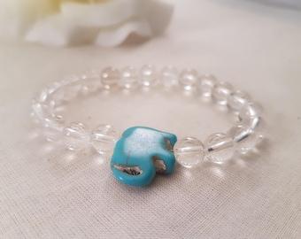 Elephant Quartz Stretch Bracelet/ Energy Bracelet.